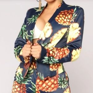 NWOT Pineapple blazer
